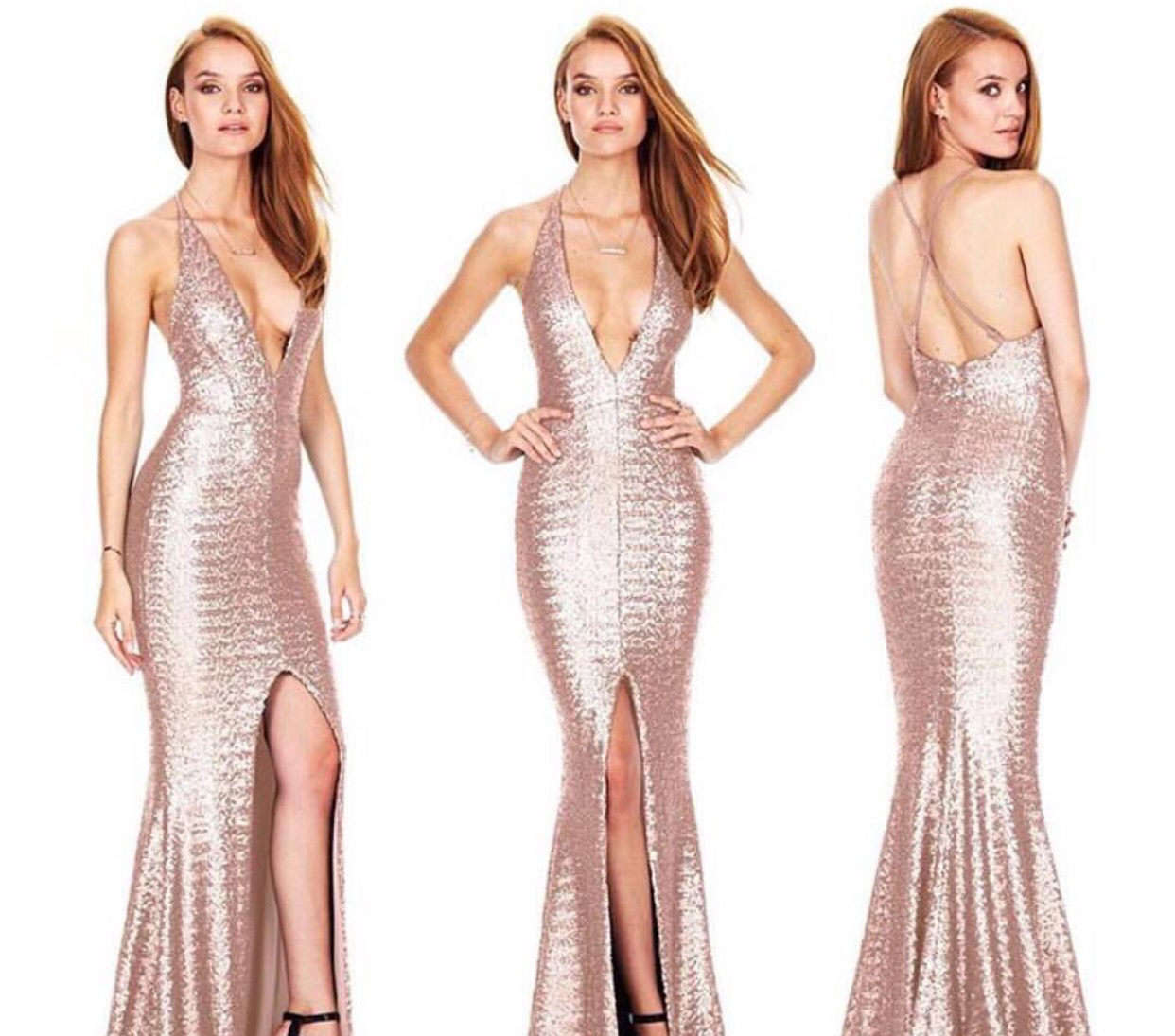 Champagne Plunge Gown