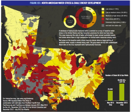 North America Water Stress