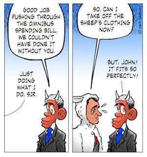 Obama and Boehner on pushing through the Omnibus bill