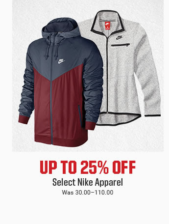 UP TO 25% OFF - Select Nike Apparel | Was 30.00-110.00 | SHOP NOW