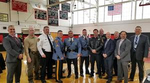 Mr. Diliberto and Mr. Macioci with Law Enforcement Officers and Experienced Professionals at West Essex Safety Sympoium