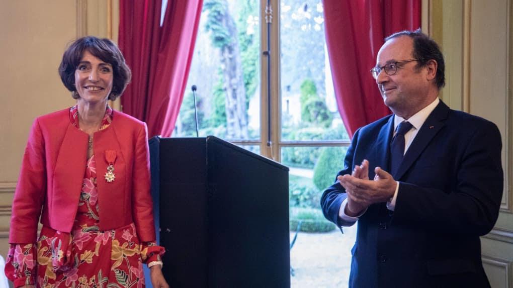 L'ex-ministre et l'ex-président à la cérémonie à Paris le 13 mai.
