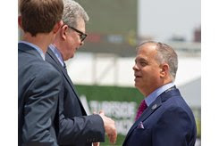 Tim Ritvo (right) May 18 at Pimlico Race Course