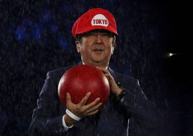Japanese prime minister Shinzo Abe is Super Mario, just because.