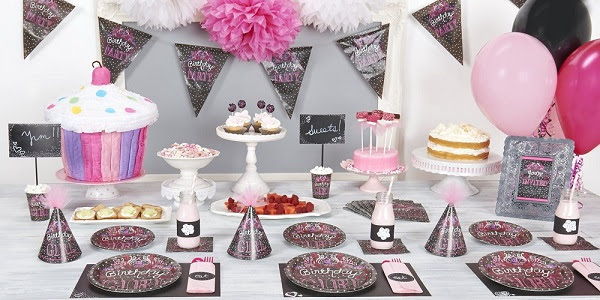 Sweet Chalkboard Party Supplie...