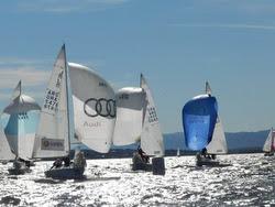 J/24s sailing Lago San Roque- Argentina