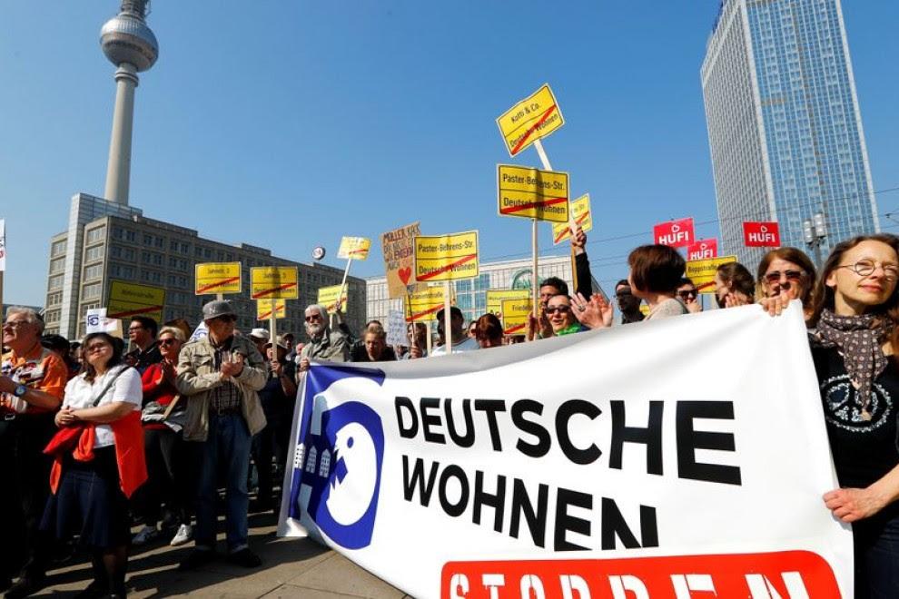 Imagen de archivo de una manifestación de la iniciativa Expropiar a Deutsche Wohnen y compañía.
