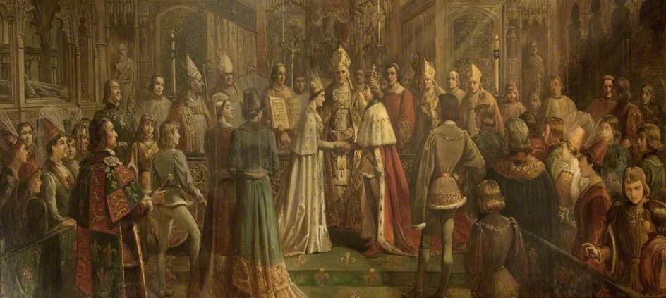 Sự kết hợp giữa hai nhà Lancaster và York (Tranh thuộc artuk)