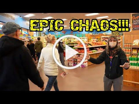 Maskless Group Causes EPIC CHAOS at Grocery Store