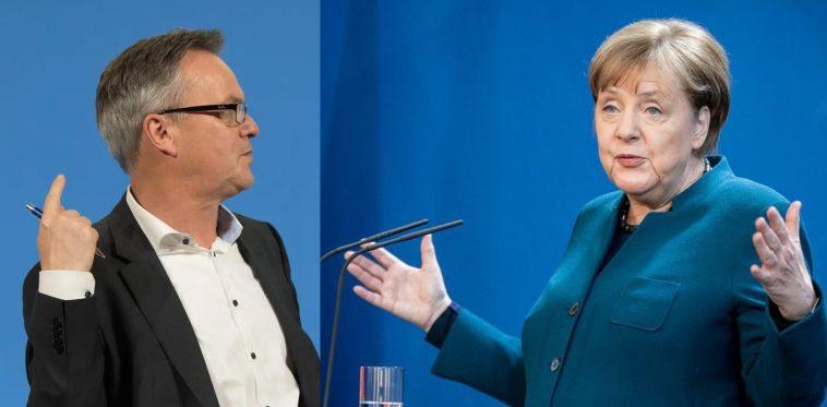 Stephan Kohn și Angela Merkel