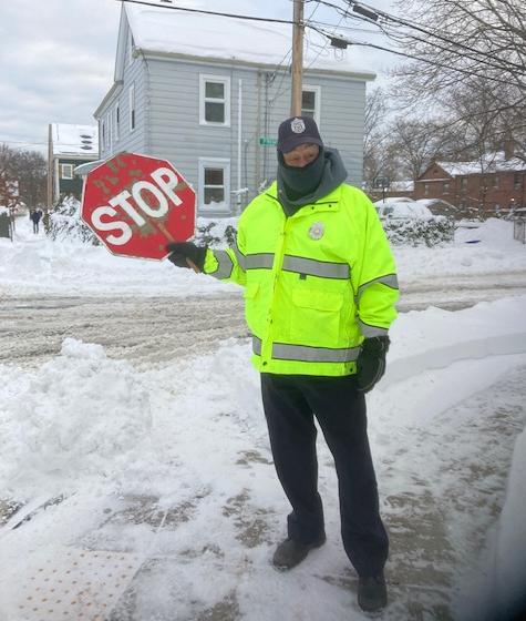 crossing guard winter