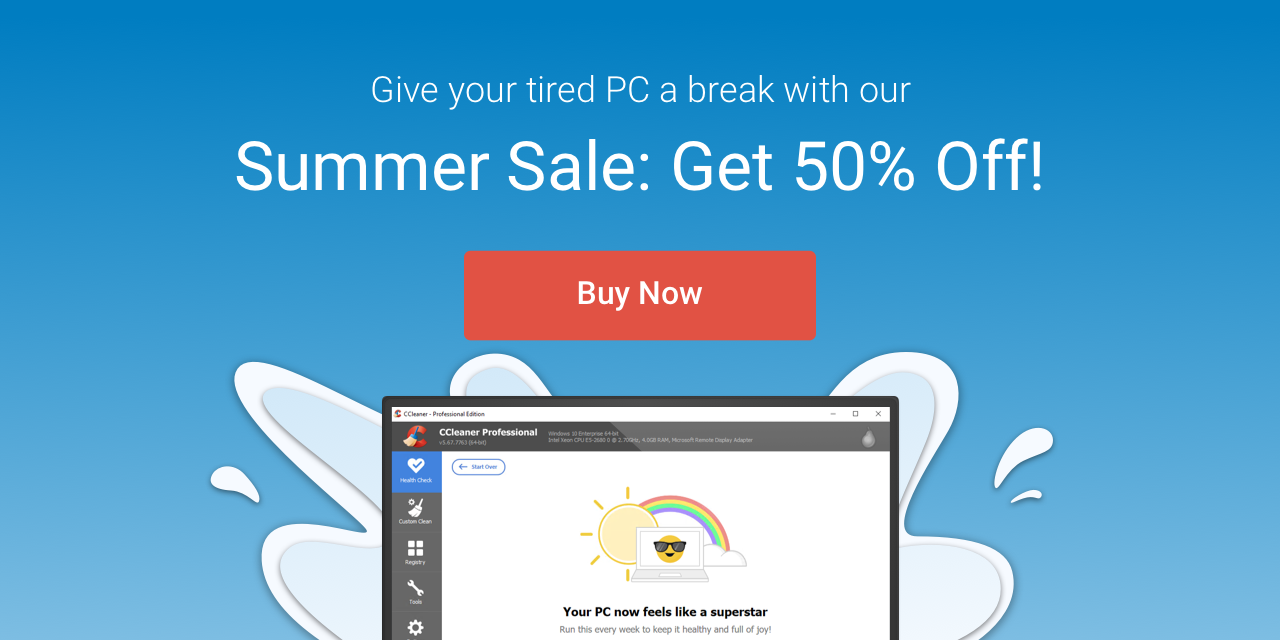 CCleaner Professional Summer sale discount coupon