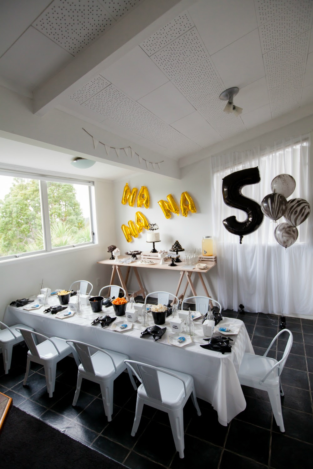 Pop Roc Parties Blog | Beau's Batman Party Set Up