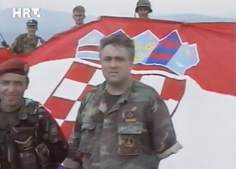 Croat veterans in Knin August 6, 1995