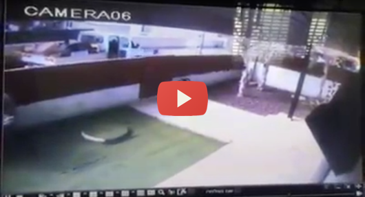 Security camera captures rocket strike in Sderot