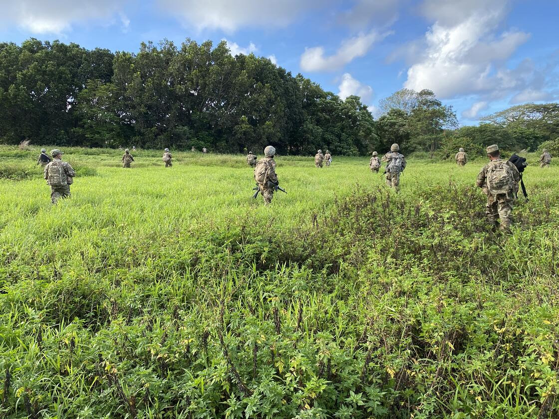 Cadets from the NMC ROTC program integrated with Cadets from the UOG ROTC program during the Spring 2021 Field Training Exercise from April 8-11, 2021 in Guam.