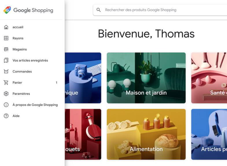 Nova aparência Google Shopping