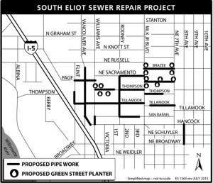 Sewer Repair Map