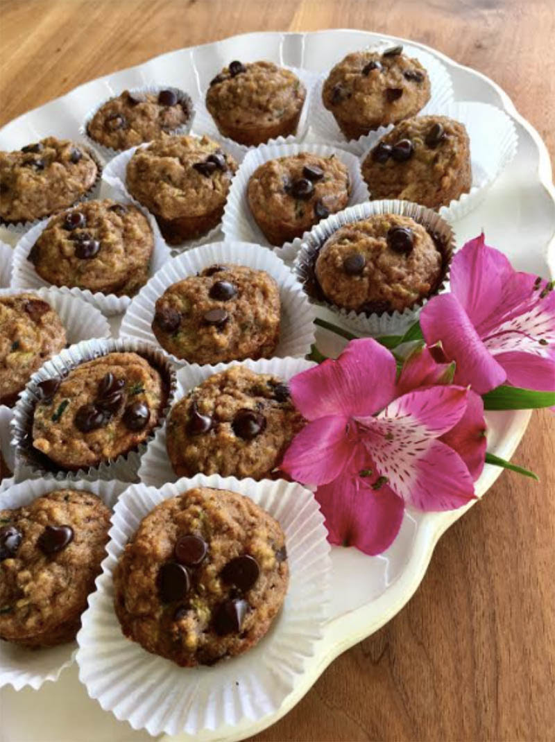 Zucchini Quinoa Chocolate Chip Muffins