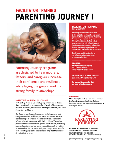 Parenting Journey I flyer