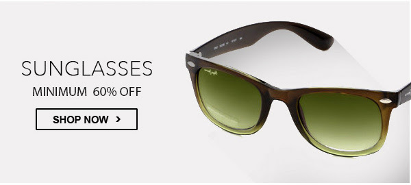 Minimum 60% OFF on Sunglasses