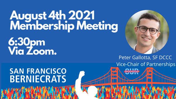San Francisco Berniecrats monthly meeting @ Online via Zoom