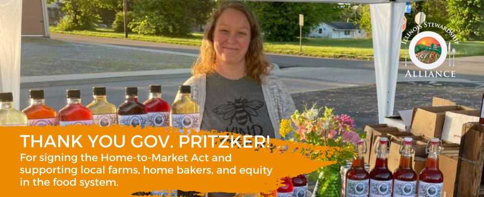 Urge Gov. Pritzker to sign the Home-to-Market Act; Pictured a progression bar that shows 252 supporters having already sent Gov Pritzker a message on behald of the Home-to-Market Act