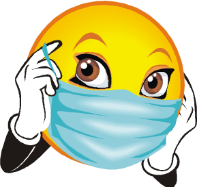 PPE on Smiley Face