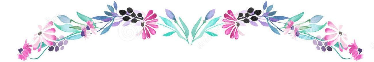 watercolor flower line