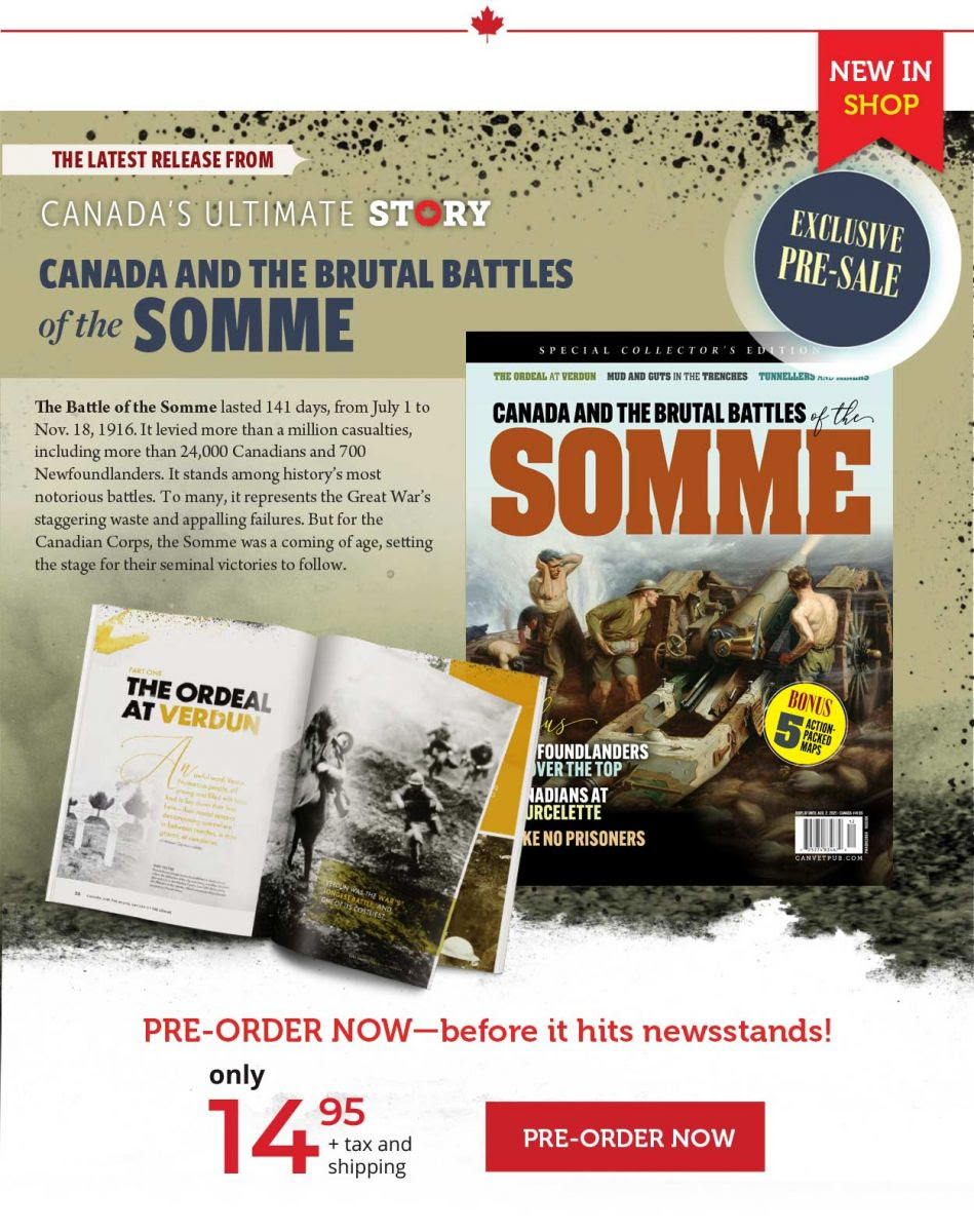 Canada and the brutal battles of the somme Pre-order
