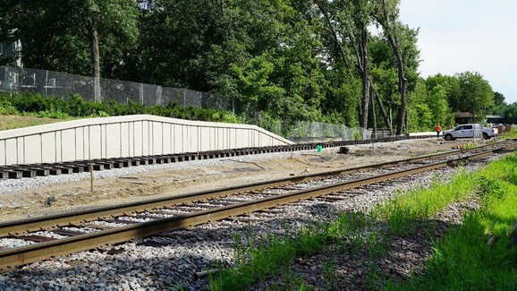Summer: before the freight rail shift onto new track and Kenilworth channel bridge.