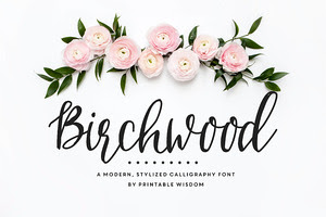 Birchwood Calligraphy Font
