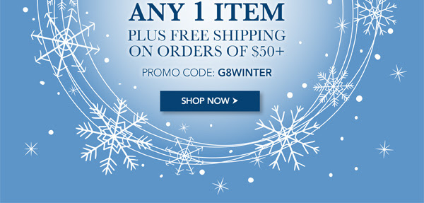 Enjoy 30% off 1 Item, plus free shipping on orders over $50. Promo code G8WINTER.