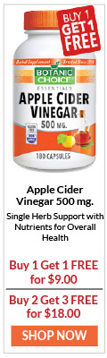 Apple Cider Vinegar is a Single Herb Support with Nutrients for Overall Health