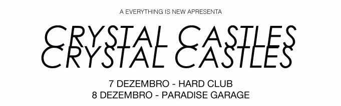 Crystal Castles com 2 concertos em Portugal