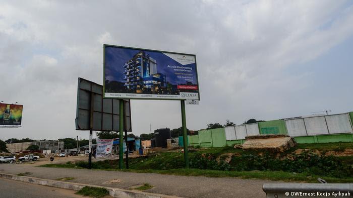 En Acra, capital de Ghana, los espacios verdes son escasos y el auge de la construcción no ayuda.