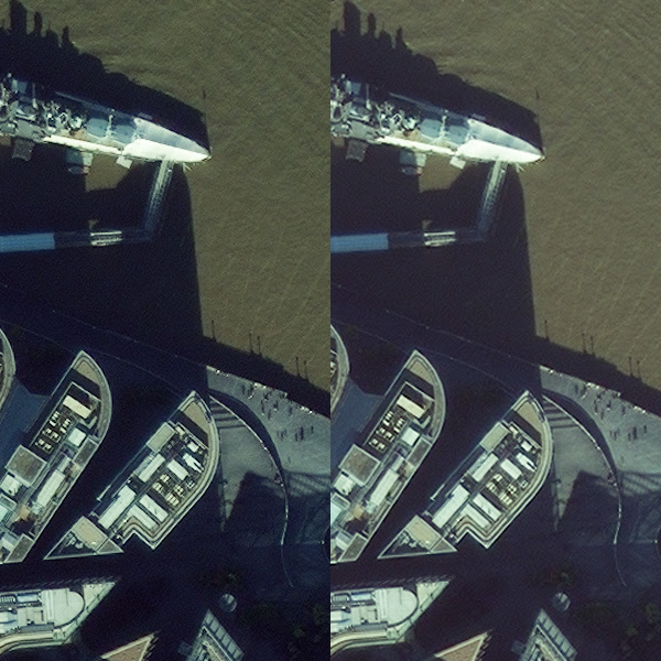 40 cm vs 50 cm satellite imagery product