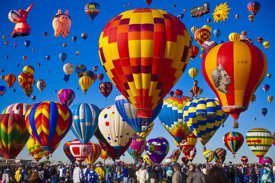 Image result for images of albuquerque balloon festival