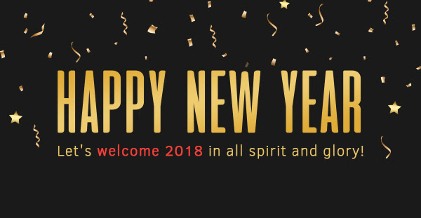 Happy New Year! We wish you lots of success, happiness and prosperity in the year ahead.