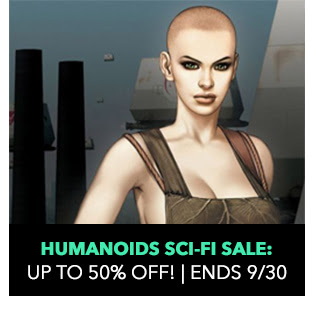 Humanoids Sci-Fi Sale: up to 50% off! Sale ends 9/30.