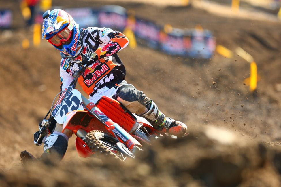 Musquin finished second overall.Photo: Jeff Kardas