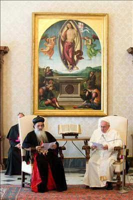 Pape François - Pope Francis - Papa Francesco - Papa Francisco - Catholicos ortodoxo siro-malankar de la india