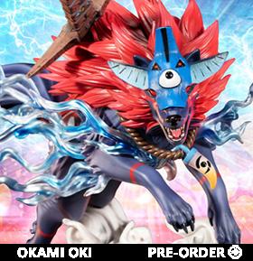 Okami Oki (Wolf Form) Statue