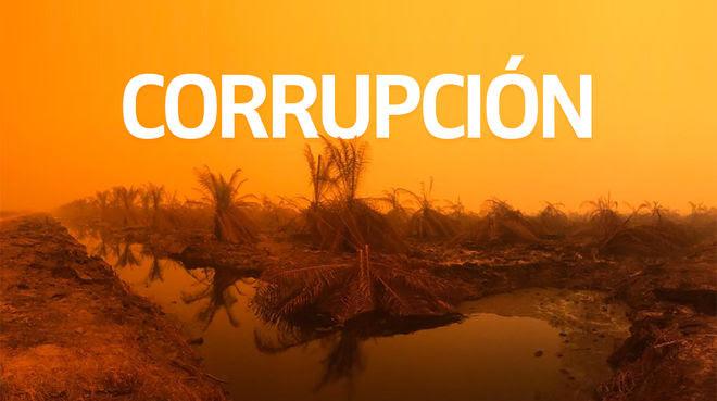 Incendio en Sumatra + Texto CORRUPCIÓN