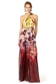 Matthew Williamson Tropical Sunrise Gown