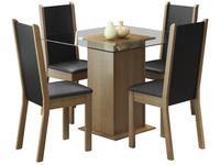 Mesa de Jantar com 4 Cadeiras Quadrada