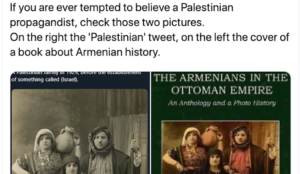 """""""Palestinian"""" propagandist claims photo of Armenian family shows """"Palestinians"""" before founding of Israel"""