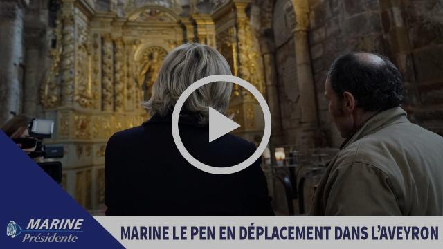 Reportage sur le déplacement de Marine Le Pen dans l'Aveyron (12) |Marine 2017