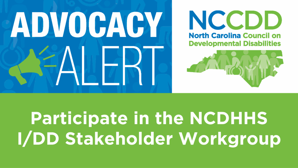Participate in the NC DHHS I/DD workgroup
