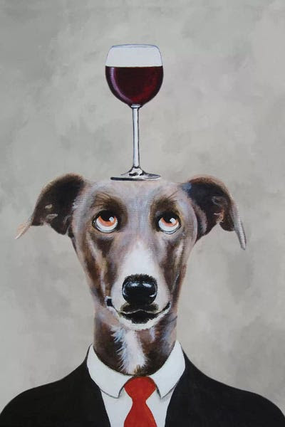 Image result for greyhound drinking wine